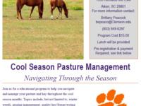 Cool Season Pasture Management