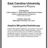 Physics Colloquium on October 11th!- Professor Taeho Kim