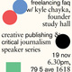 Creative Publishing and Critical Journalism Workshop Series - Freelancing