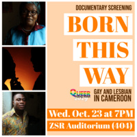 "Public Film Screening of ""Born This Way: Gay and Lesbian in Cameroon"""