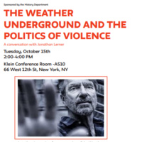 The Weather Underground and the Politics of Violence