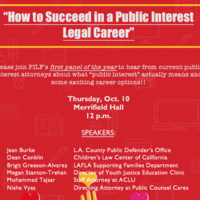 How to Succeed in a Public Interest Legal Career