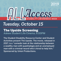Disability Awareness Week: The Upside Screening