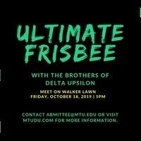 Ultimate Frisbee with Delta Upsilon