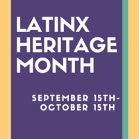 Book display for Latinx Heritage Month
