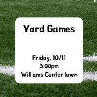 New Student Meet-up: Yard Games