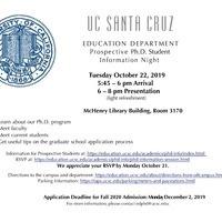 Prospective Education Ph.D. Student Information Night