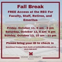 Visit the Rec Center for FREE this weekend!