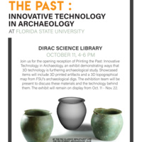 Reception for Printing the Past: Innovative Technology in Archaeology at Florida State University