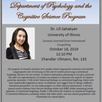 Psychology / Cognitive Science Colloquium