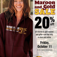 Maroon and Gold Friday Sale