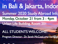 Study Public Health in Bali & Jakarta, Indonesia: Summer 2020 Study Abroad Info Session