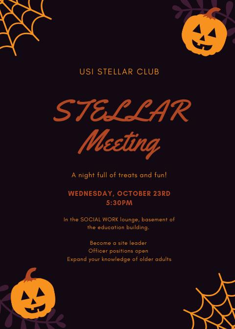 STELLAR Meeting at Social Work Lounge