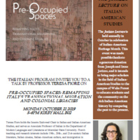 Pre-Occupied Spaces: Remapping Italy's Transnational Migrations and Colonial Legacies