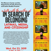 Talk with Jillian Báez, author of In Search of Belonging: Latinas, Media & Citizenship