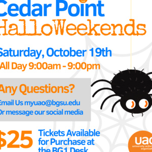 UAO Cedar Point Halloweekends Trip