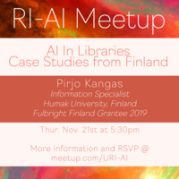AI in Libraries: Case Studies from Finland