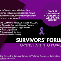 Survivors Forum:  From Pain to Power