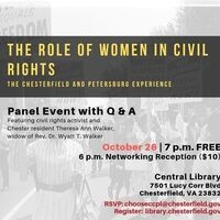 The Role of Women in the Civil Rights Movement: The Chesterfield and Petersburg Experience