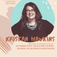 Kristan Hawkins Speaking Engagement