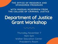 Department of Justice Grant Workshop