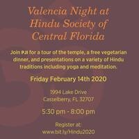 Valencia College Night at the Hindu Society of Central Florida