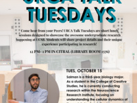 URCA Talk Tuesday with Salman Sadak (Research in Bio)