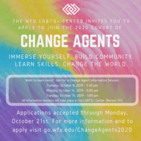 LGBTQ+ Center Change Agent Application Period