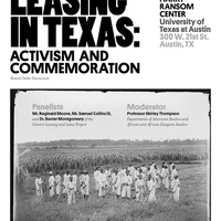 Roundtable Discussion-Convict Leasing in Texas: Activism and Commemoration
