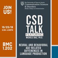 CSD Talk featuring Michele Diaz, Ph.D.