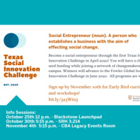 Texas Social Innovation Challenge Information Sessions