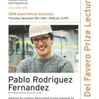 2019 Del Favero Award Lecture - Pablo Rodriguez Fernadez