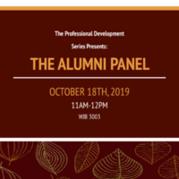 The Professional Development Series Presents: The Alumni Panel