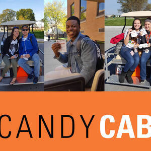 Get a Ride Across Campus from the Candy Cab