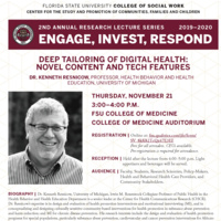 Lecture - Deep Tailoring of Digital Health: Novel Content and Tech Features