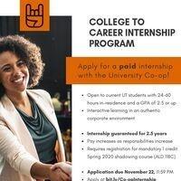 Paid University Co-op Internship Program application now open