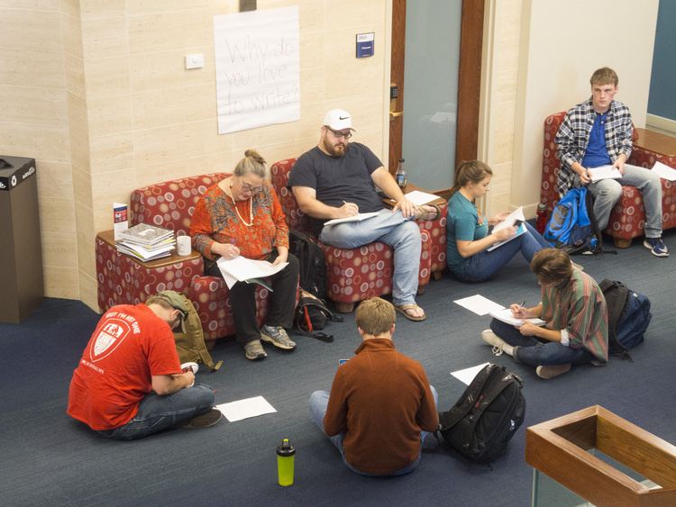USI English Department 3rd Annual Write-In at Robert D. Orr Center