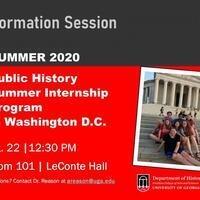 Info Session: Public History Internship Summer Program in Washington DC