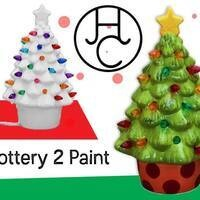 Paint your own light-up Christmas tree