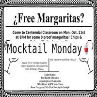 Mocktail Monday in Centennial Hall commons