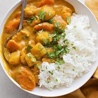 C-Cubed Luncheon - Thai Chicken and Tofu Coconut Curry