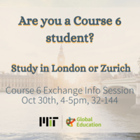 Course 6 Study Abroad Info Session