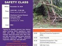 Tree Cleanup and Chainsaw Safety Class