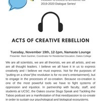 ODEI Dialogue Series: Acts of Creative Rebellion