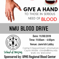 NMU Blood Drive Sponsored by UP Regional Blood Center