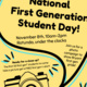 National First Generation Student Day!