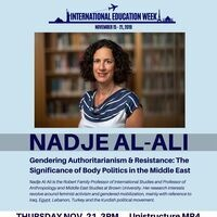 Guest Speaker: Nadje Al-Ali- International Education Week