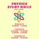 Physics Study Halls (FALL 2019)