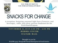 Snacks for Change Fundraising Event