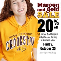 UMC Bookstore Maroon and Gold Sale